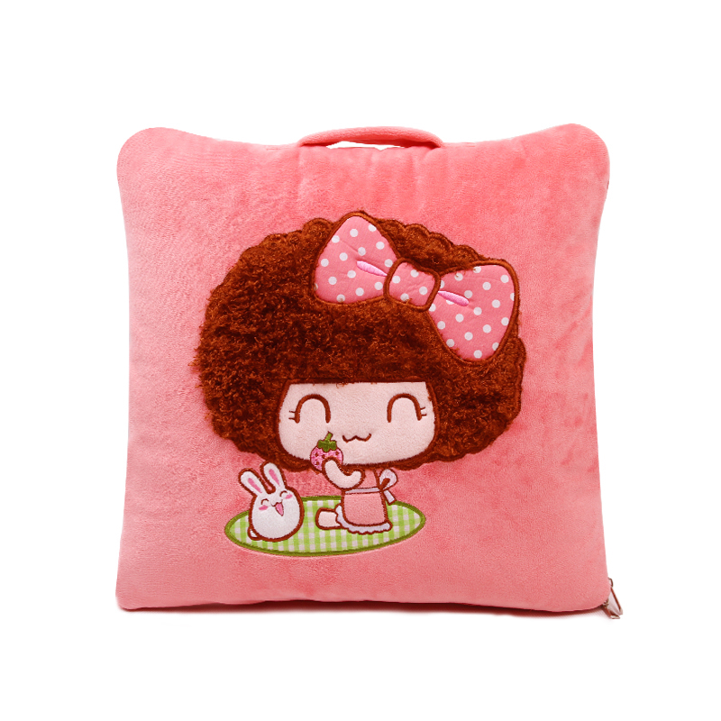 正版mocmoc摩丝娃娃 汽车抱枕被子两用靠垫