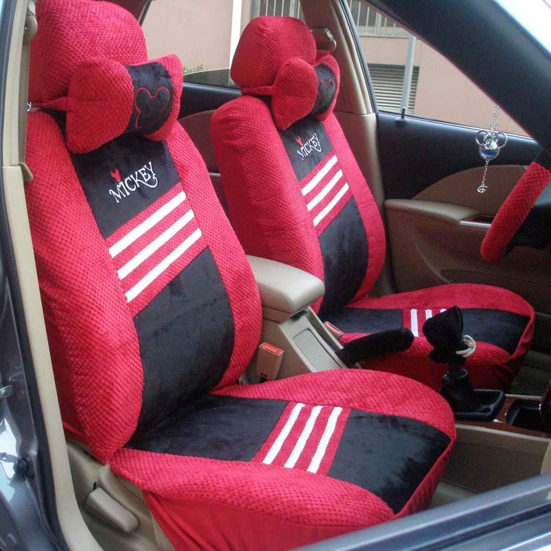 收纳袋)2个,后座套1个,后靠套1个,头枕2个,方向盘套1个,安全带套2个