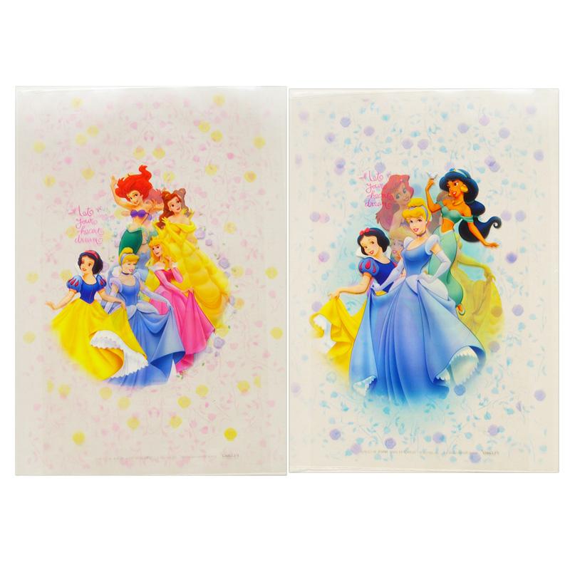 清仓:正版迪士尼-公主彩色超透明书套组5个/包(大)b