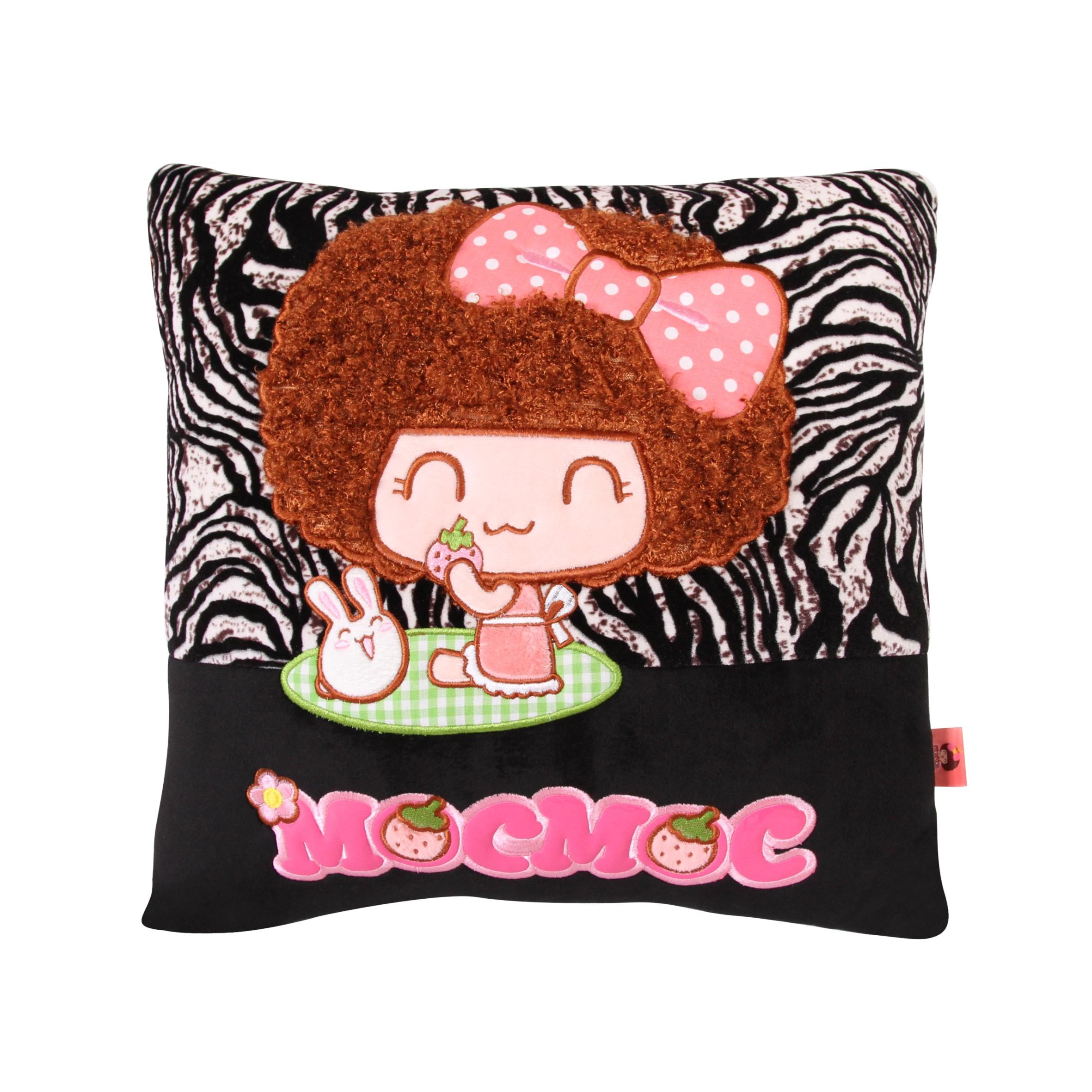 正版mocmoc摩丝娃娃田园系列毛绒方形抱枕 创意车用靠垫可爱卡通沙发