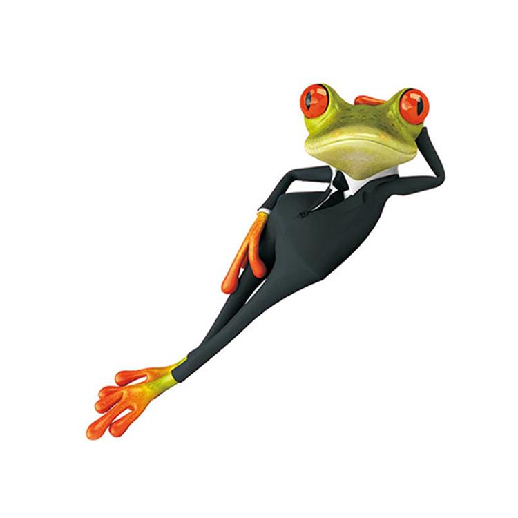 木丁西 3d青蛙立体可爱卡通车贴 车用装饰个性贴纸 油箱盖后视镜车尾
