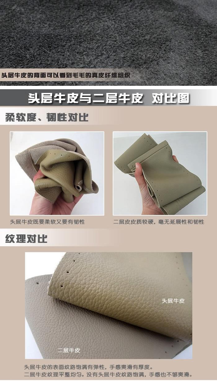 汽车真皮方向盘套 手缝方向盘套把套 整皮单接头 真皮