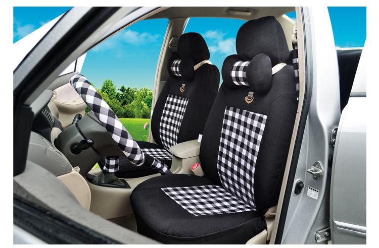 欧利莱商务系列 夏季冰丝座套 卡通汽车座椅套 通用车