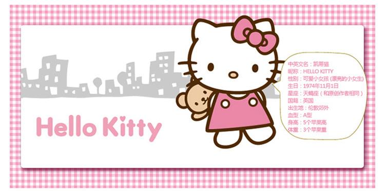 正版hello kitty凯蒂猫可爱卡通汽车用红蝴蝶结 杂物筒 置物桶 车用